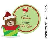 christmas bear icon | Shutterstock .eps vector #530278723