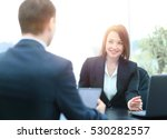beautiful young businesswoman... | Shutterstock . vector #530282557