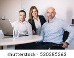 businesspeople having informal... | Shutterstock . vector #530285263