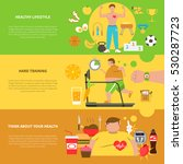 obesity horizontal banners with ... | Shutterstock . vector #530287723