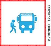 school bus  pupil vector icon... | Shutterstock .eps vector #530303893