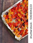 roasted butternut squash  red...