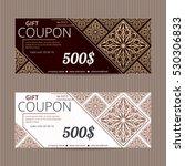 gift voucher in luxury style....   Shutterstock .eps vector #530306833