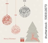 background with a christmas... | Shutterstock .eps vector #530313073