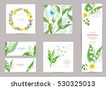 collection of greeting cards...   Shutterstock .eps vector #530325013