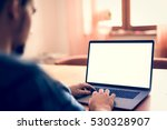 man using  working on laptop... | Shutterstock . vector #530328907