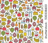 seamless pattern with healthy... | Shutterstock .eps vector #530338603