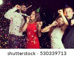 two beautiful young couples... | Shutterstock . vector #530339713