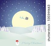 christmas snow background vector | Shutterstock .eps vector #530344663