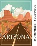 arizona vector american poster. ... | Shutterstock .eps vector #530344903