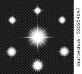 glow light effect. star. | Shutterstock .eps vector #530354047