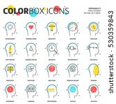 color box icons  business and...