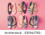 collection of women's shoes on... | Shutterstock . vector #530362783