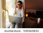young female at home.she... | Shutterstock . vector #530363833