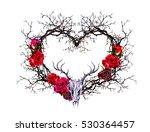 Heart Shape With Animal Skull....