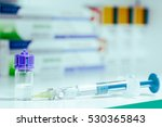 syringe  medical injection and... | Shutterstock . vector #530365843