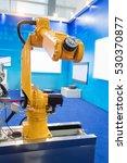 robot arm in smart factory | Shutterstock . vector #530370877