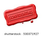 wax seal with confidential word ... | Shutterstock . vector #530371927