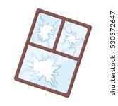 broken window icon in cartoon...   Shutterstock .eps vector #530372647