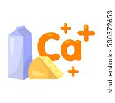 sources of calcium icon in... | Shutterstock .eps vector #530372653