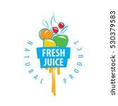 logo of fresh juice | Shutterstock .eps vector #530379583