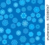 seamless pattern of snowflakes... | Shutterstock .eps vector #530380567