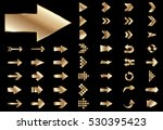 arrow vector gold curve line up ... | Shutterstock .eps vector #530395423