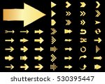arrow vector gold curve line up ... | Shutterstock .eps vector #530395447
