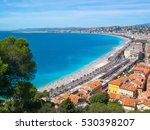 View Of Nice With Colorful...