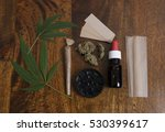 cannabis sativa leaves and thc... | Shutterstock . vector #530399617