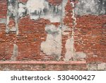 Ancient Old Red Brick Grunge...