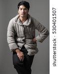 portrait of asian man in gray... | Shutterstock . vector #530401507