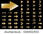arrow vector gold curve line up ... | Shutterstock .eps vector #530402353