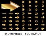 arrow vector gold curve line up ... | Shutterstock .eps vector #530402407