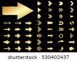 arrow vector gold curve line up ... | Shutterstock .eps vector #530402437
