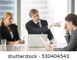 furious client scolding  firing ... | Shutterstock . vector #530404543