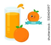 bright illustration of glass of ... | Shutterstock .eps vector #530404597