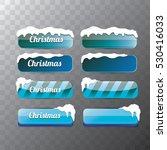 christmas vector blue glossy... | Shutterstock .eps vector #530416033