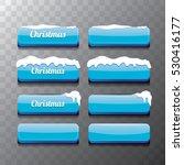 christmas vector blue glossy... | Shutterstock .eps vector #530416177