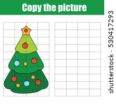 copy the picture using a grid... | Shutterstock .eps vector #530417293