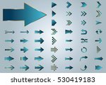 arrow vector blue curve line up ... | Shutterstock .eps vector #530419183