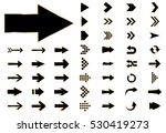 arrow vector black curve line... | Shutterstock .eps vector #530419273