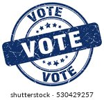 vote. stamp. blue round grunge... | Shutterstock .eps vector #530429257