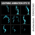 vector web lightning animation. ... | Shutterstock .eps vector #530431363