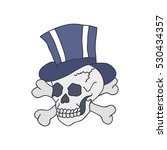 doodle icon. skull. traditional ... | Shutterstock .eps vector #530434357