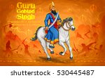 happy guru gobind singh jayanti ... | Shutterstock .eps vector #530445487