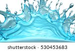splash water. 3d illustration ... | Shutterstock . vector #530453683
