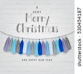 merry christmas illustration | Shutterstock .eps vector #530454187