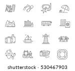 travel and vacation set of... | Shutterstock .eps vector #530467903