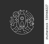 space  rocket  universe logo... | Shutterstock .eps vector #530468227